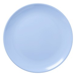 Soft blue pizza plate