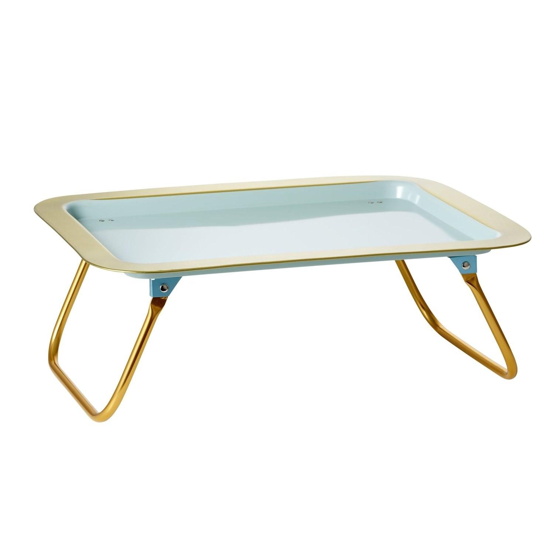 Vassoio da letto azzurro con bordi dorati gallinasmilza - Vassoio da letto ...