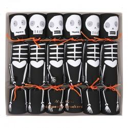 Segnaposti di Halloween a forma di scheletri