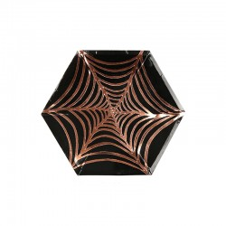 Piattini di carta canapè con fantasia di Halloween