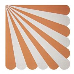 Tovaglioli di carta a righe arancioni