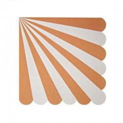 Tovagliolini di carta a righe arancioni
