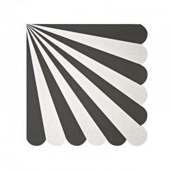 Tovagliolini di carta a righe nere
