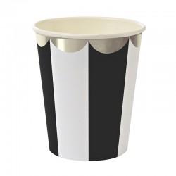 Bicchieri di carta bianco neri