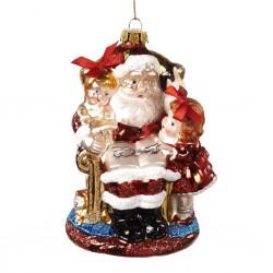 Decorazione natalizia - Babbo Natale legge ai bambini