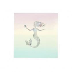 Tovagliolini di carta con fantasia sirena