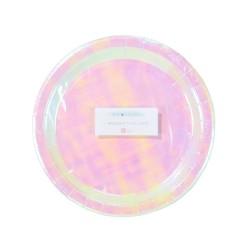 Piatti di carta iridescenti