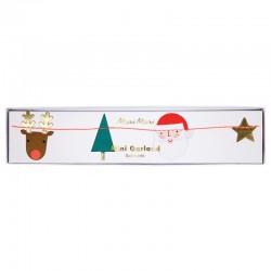 Ghirlanda con icone natalizie