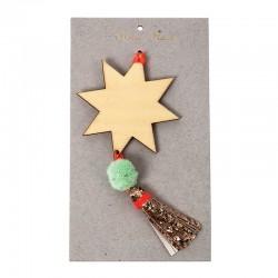 Stella decorativa per albero di Natale