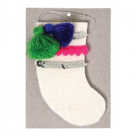 Calza decorativa per albero di Natale