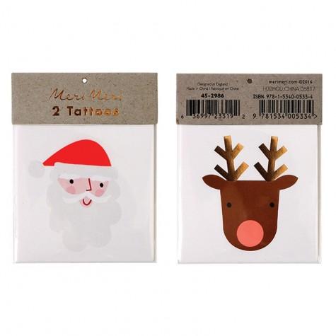 Tatuaggi di Natale, Santa Claus e la renna