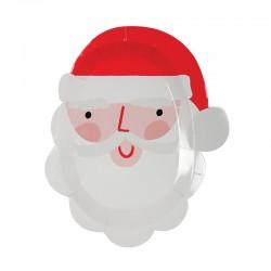 Piattini di carta a forma di Babbo Natale