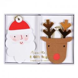 Etichette regalo di Babbo Natale