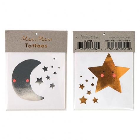 Tatuaggi di Natale, luna e stella