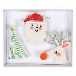 Spille natalizie ricamate