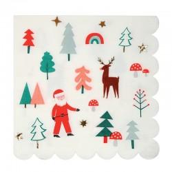 Tovaglioli di carta con iconcine natalizie