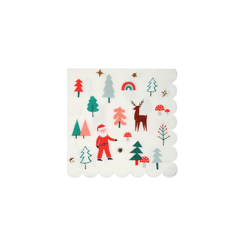 Tovaglioli di carta con iconcine natalizie gallinasmilza - Decorazioni natalizie con tovaglioli di carta ...