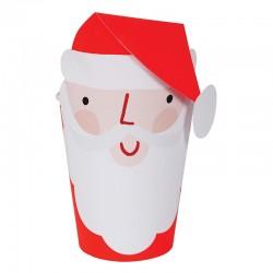 Bicchieri di carta natalizi Babbo Natale
