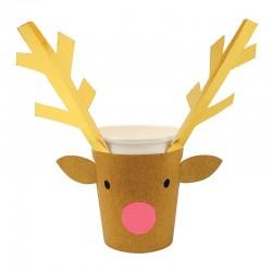 Bicchieri di carta natalizi renna