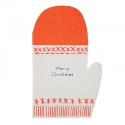 Tovaglioli di carta a forma di guanto natalizio