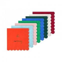 Tovagliolini di carta colorati natalizi