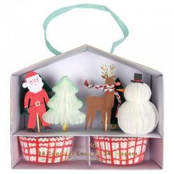 Pirottini e decorazioni per cupcake natalizi