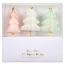 Toppers a forma di alberelli natalizi