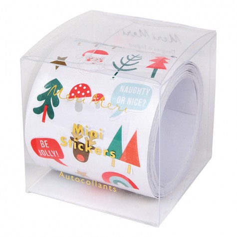 Rotolo di stickers adesivi natalizi