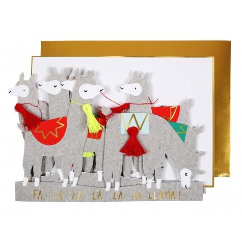 Biglietto di auguri Processione dei Lama