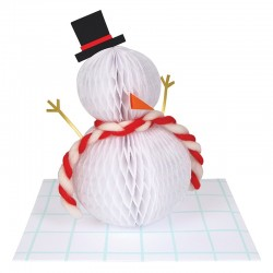 Biglietto di auguri 3D Pupazzo di neve