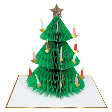 Biglietto di auguri 3D Albero di Natale