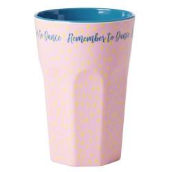 Bicchierone rosa e turchese
