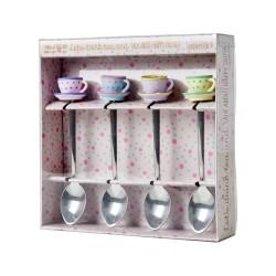 Cucchiaini da tè con decorazione in resina