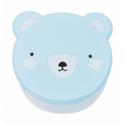 Blue bear snack boxes