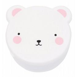 Porta merenda orsetto bianco