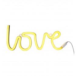 Lampada a led LOVE gialla