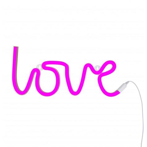 Lampada a led LOVE rosa