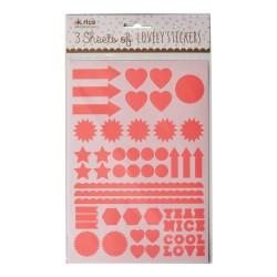 Stickers fucsia, forme e simboli