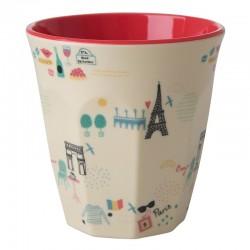 Bicchiere in melamina con fantasia Parigi