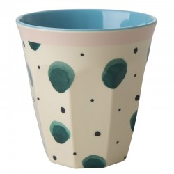 Bicchiere in melamina con fantasia schizzi ad acquerello