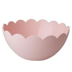 Insalatiera rosa con bordo smerlato