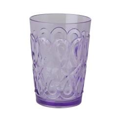 Bicchiere viola con decorazione in rilievo