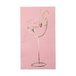Tovaglioli di carta con stampa dorata cocktail