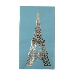 Tovagliolini di carta con stampa dorata Torre Eiffel