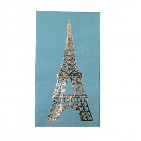Tovagliolini di carta con fantasia Torre Eiffel dorata