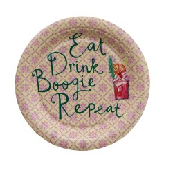 Piattini di carta Eat Drink Boogie Repeat
