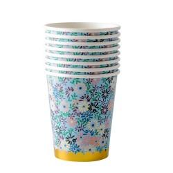 Bicchieri di carta con fantasia a fiorellini