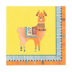 Tovaglioli di carta Boho con decorazione lama