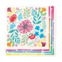 Tovaglioli di carta Boho con decorazione floreale