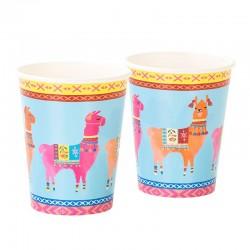 Bicchieri di carta Boho con decorazione lama